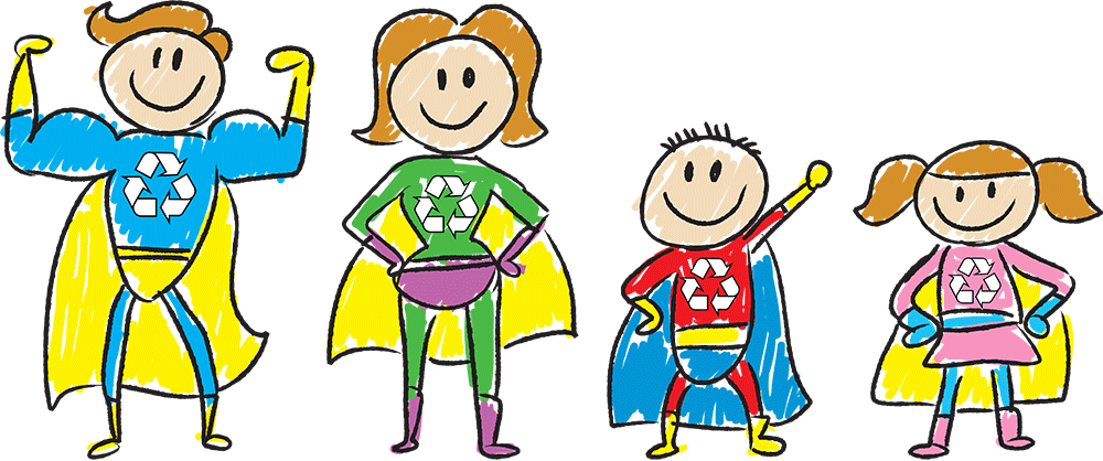 Recycle-SuperHero-Family
